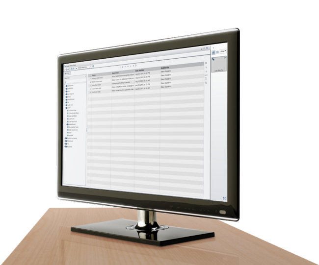 SAS Business Rules Manager shown on desktop monitor