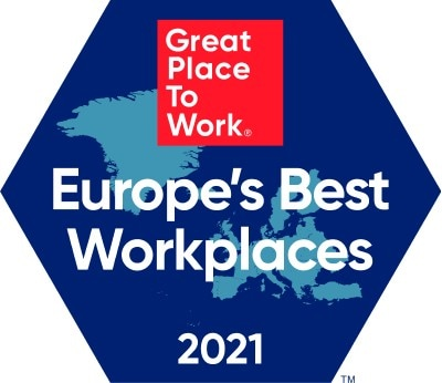 Great Place to Work Europe's Best Workplaces 2021 logo