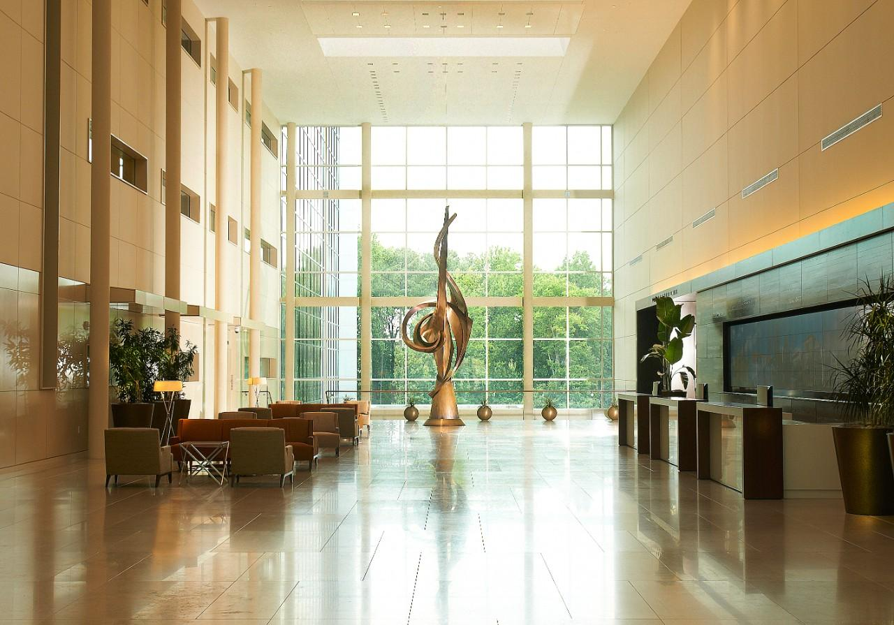 Interior lobby of SAS Building C