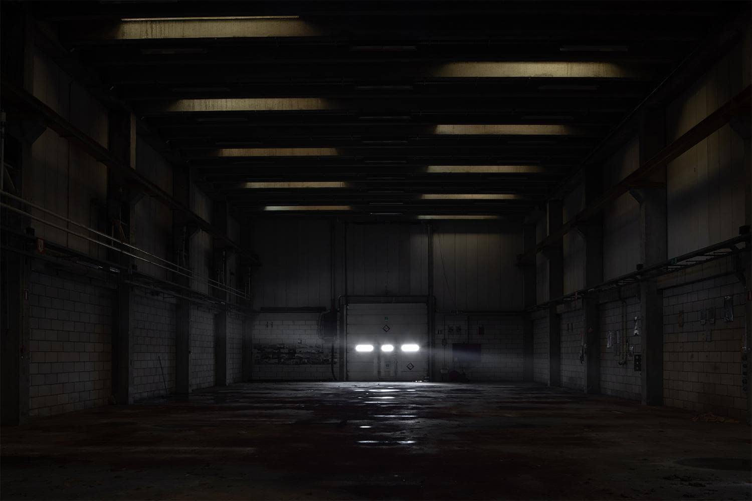 light through warehouse door