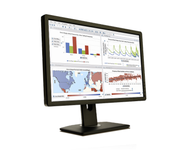 Example of visual analytics technology on desktop screen