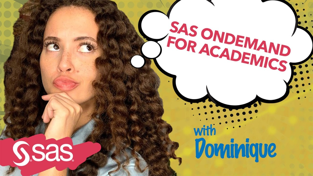 Watch our SAS OnDemand for Academics YouTube training video