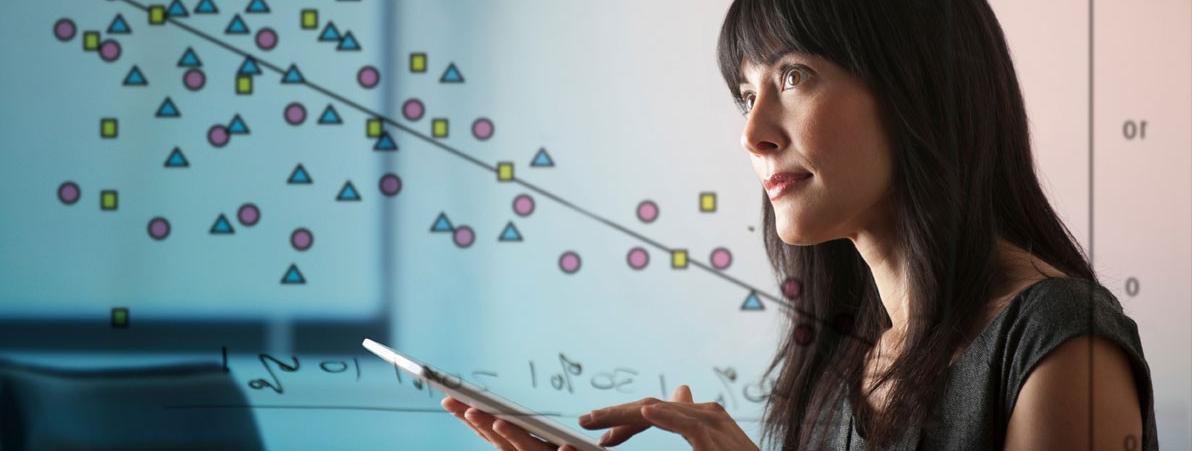 Woman and Data Plot