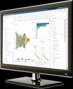 SAS® Visual Data Mining and Machine Learning screen on desktop monitor