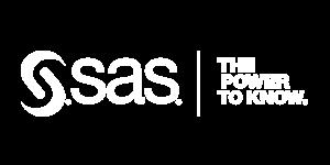 White SAS The Power to Know logo