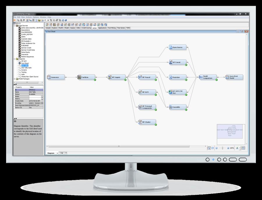 SAS® Enterprise Miner: overall flow - on desktop computer