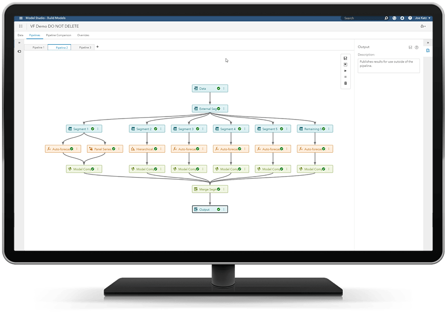 SAS® Visual Forecasting - extrernal segmentation pipeline