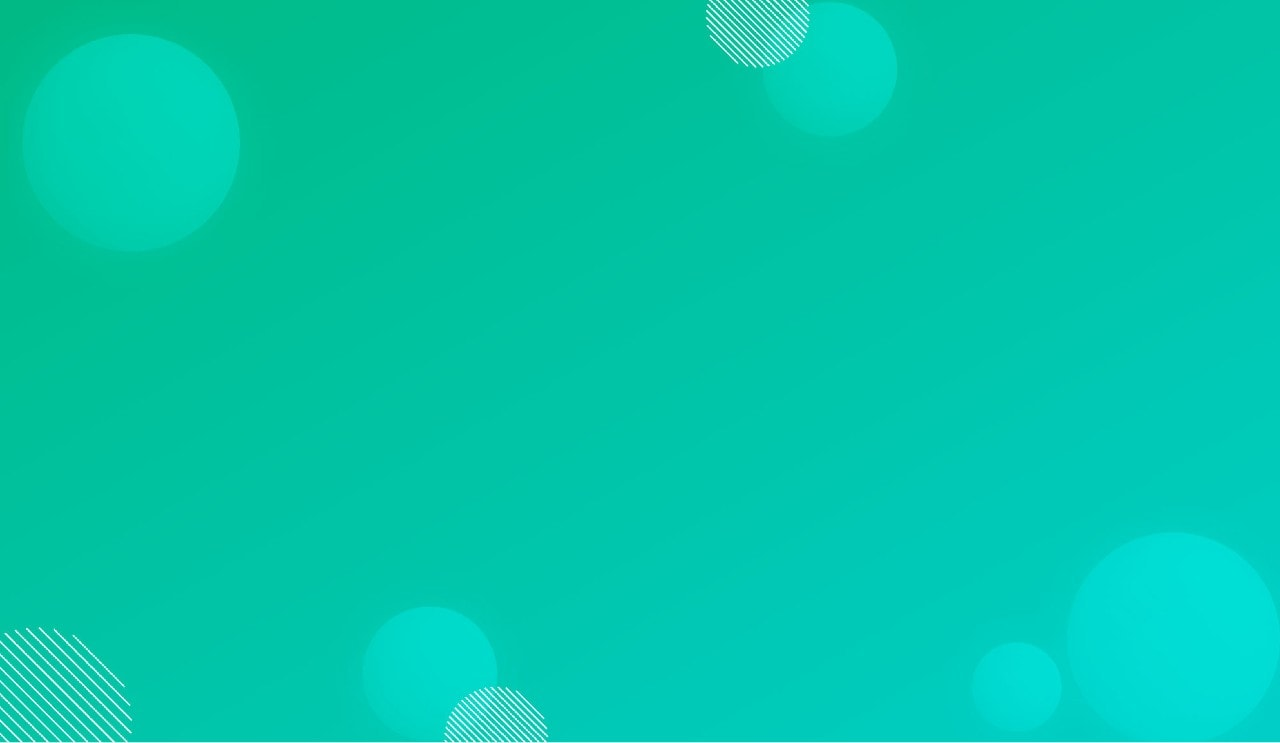 Tourquoise gradient with circles