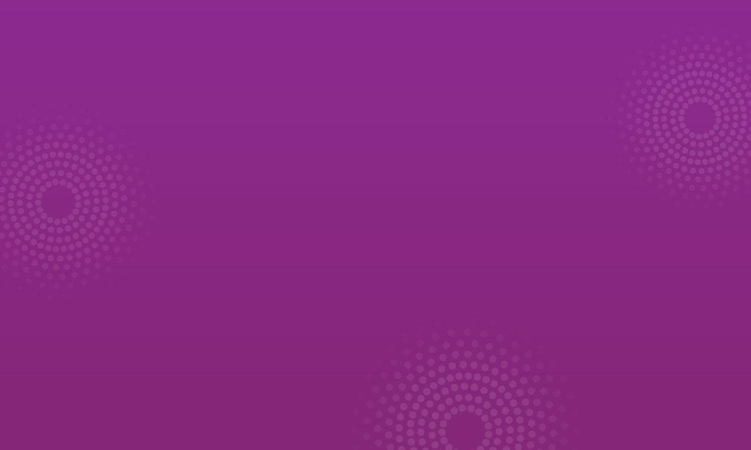 White dots in a circular design on a plum background