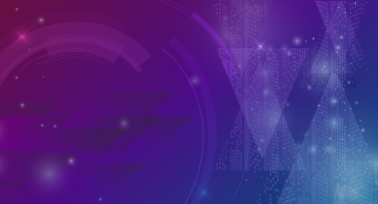 Purple and Blue Gradient Triangles Circles and Rectangles