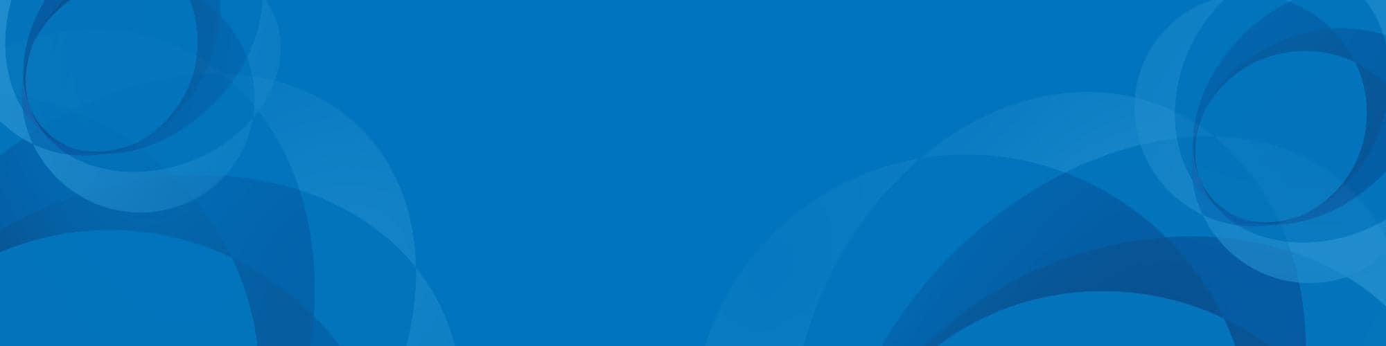 Blue spirograph art on cobalt blue background