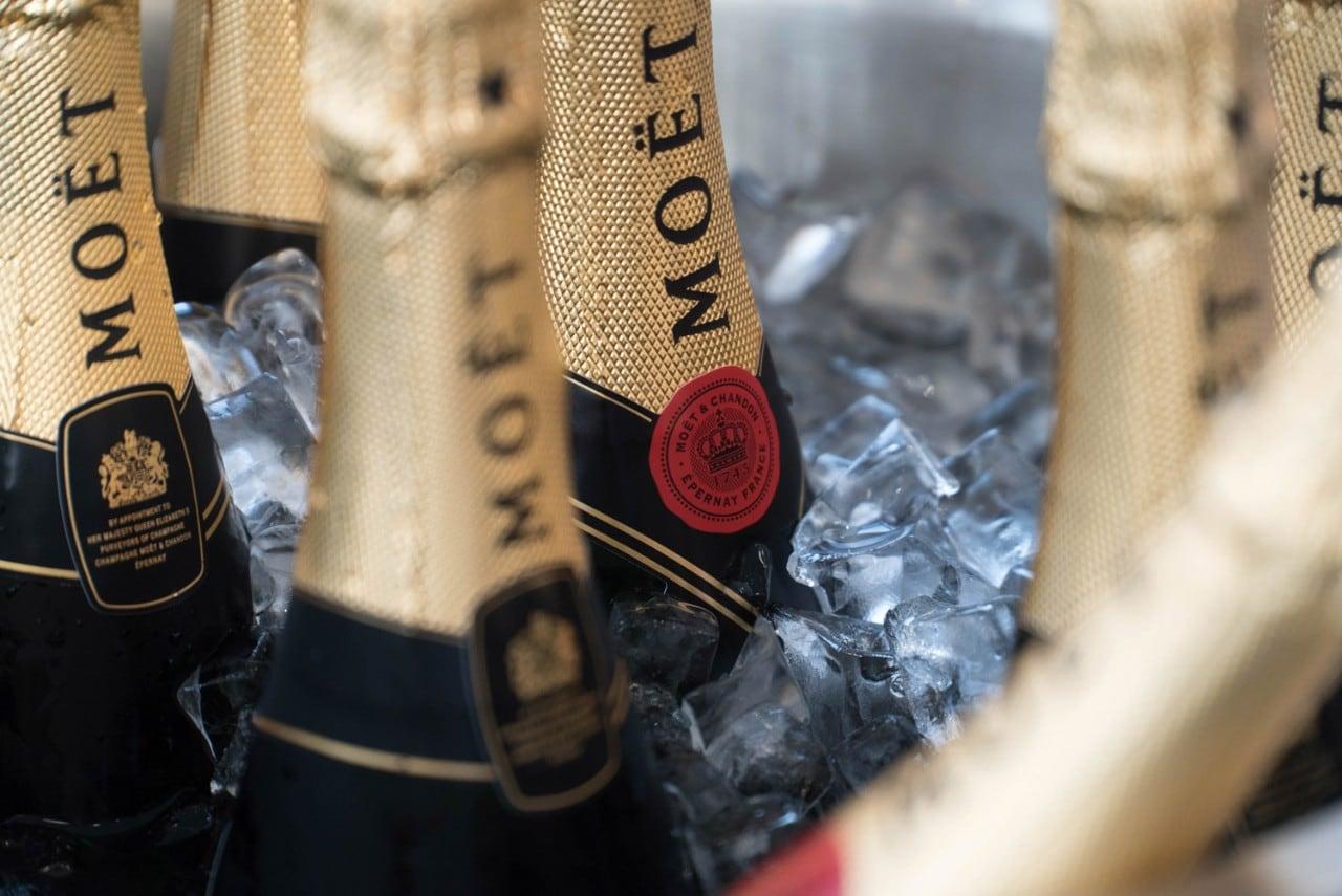 Moet champagne bottles