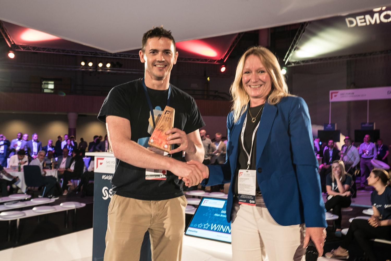 SAS Social award,Allan Bowe, SAS User group