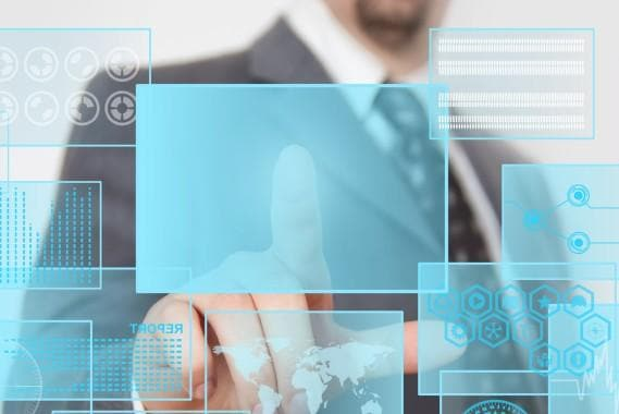 Futuristic touchscreen
