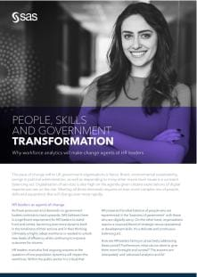 People, skills and government transformation