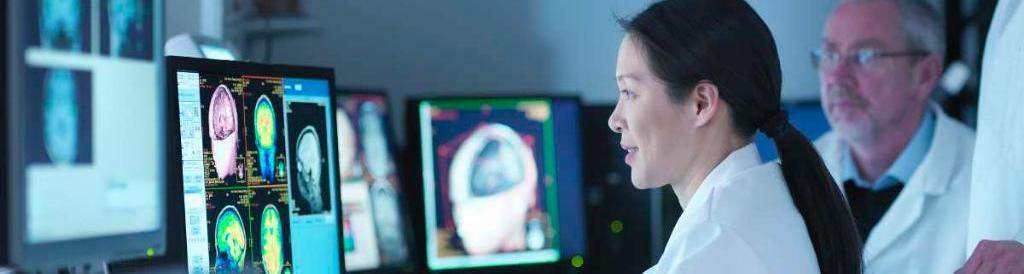 Doctors Looking At Information On Computer Screens