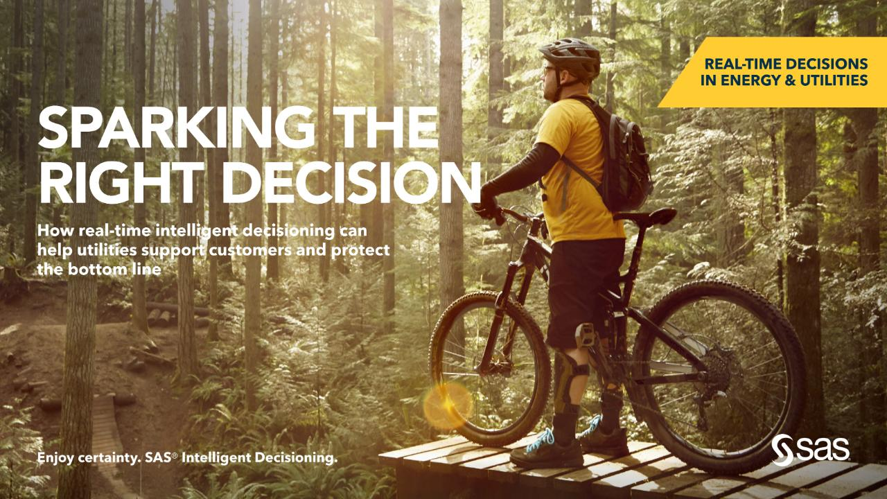 Sparking the right decision in utilities and energy