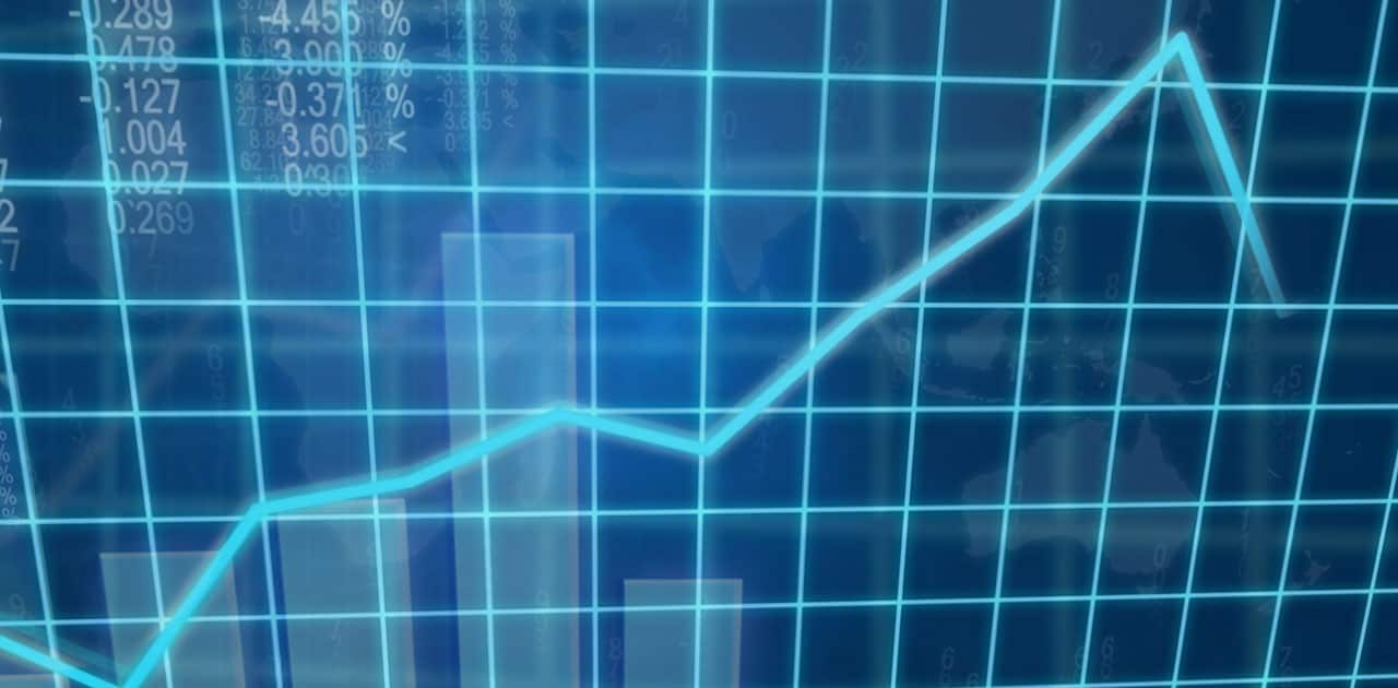 plunging line graph
