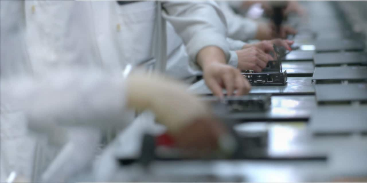 lenovo production line workers