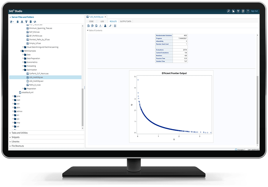 SAS® Optimization - LSO multi-object Pareto