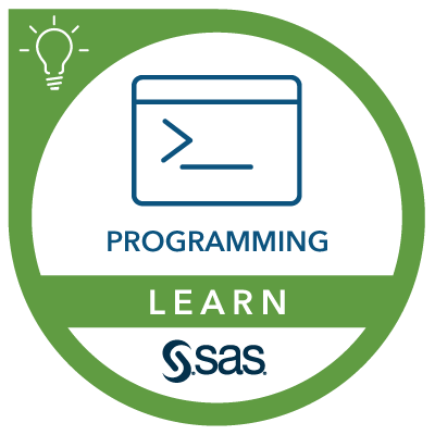 SAS Learn Badge for Programming