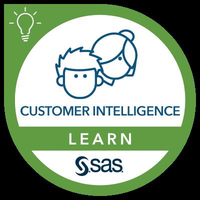 SAS Learn Badge for Customer Intelligence
