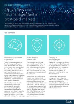 Optimising credit risk management in post-paid markets