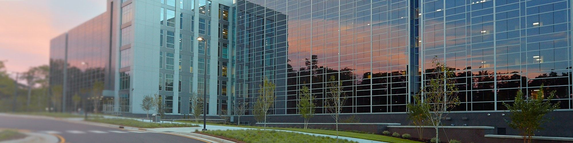 Exterior view of Building Q on SAS campus in Cary NC