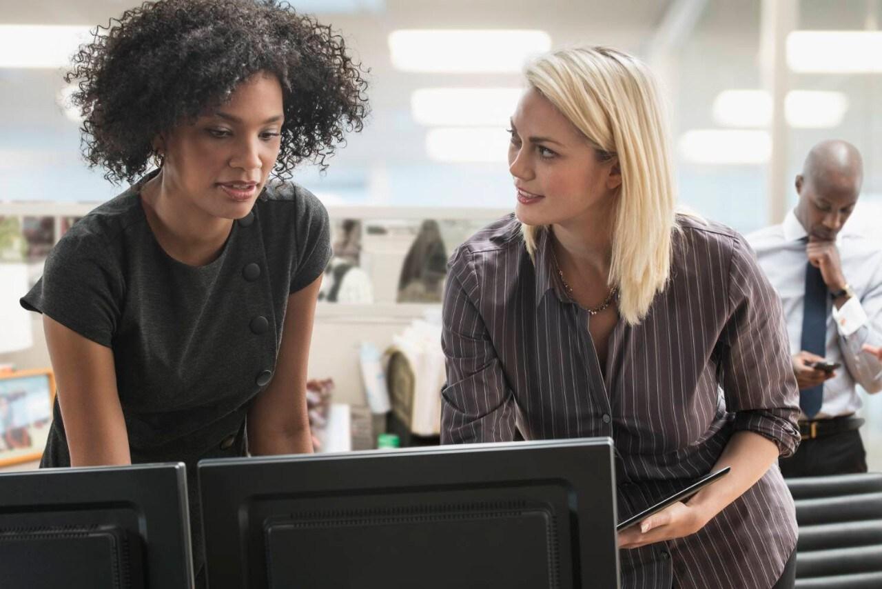 Businesswomen working in office