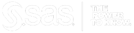sas white logo with transparent background