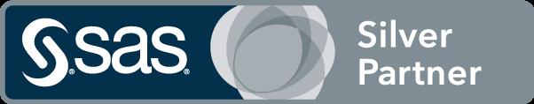 SAS silver partner badge art, horizontal format