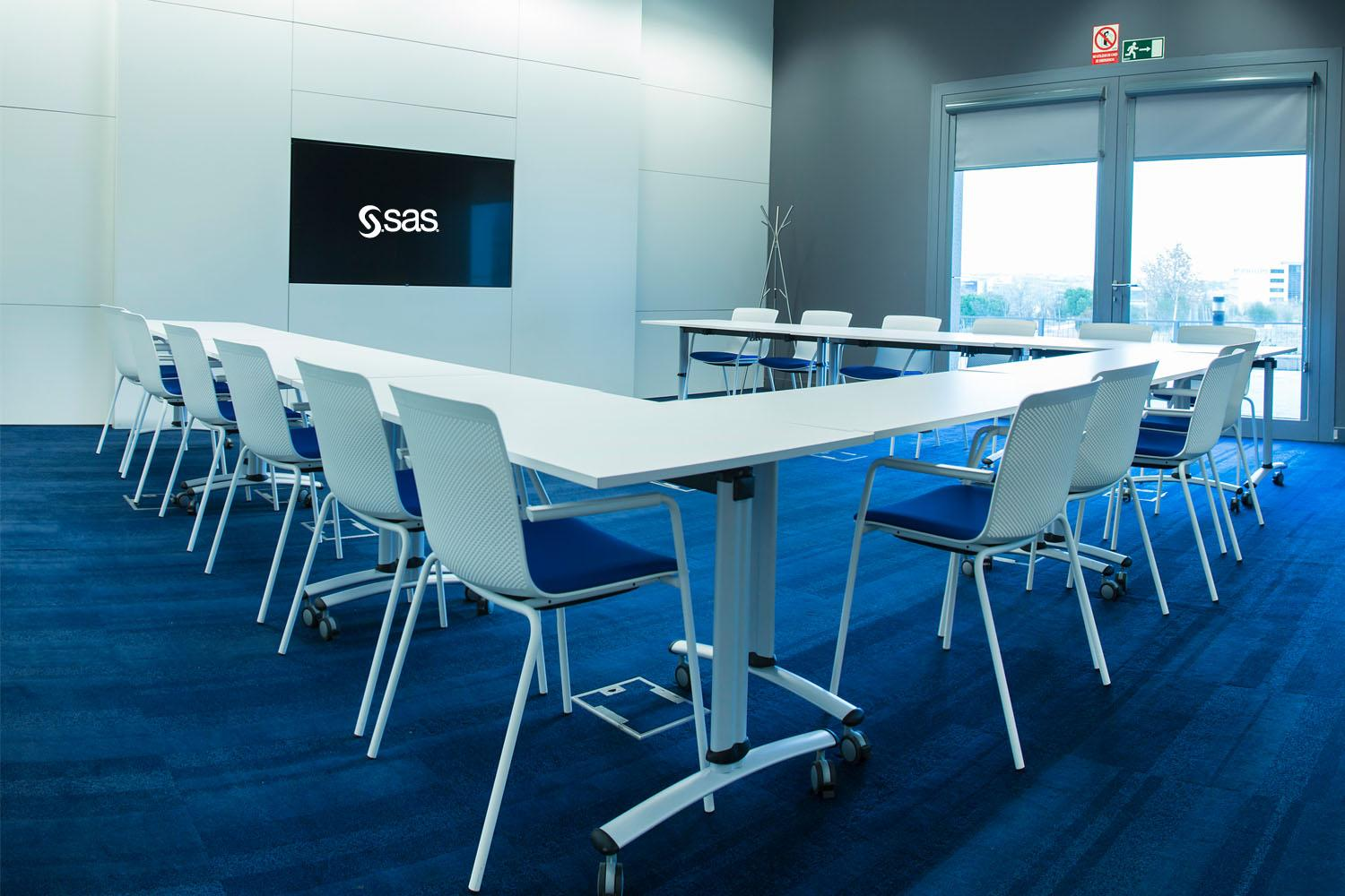 SAS Madrid office training room