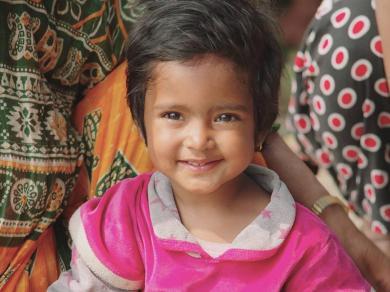 Nepalese child smiling at camera