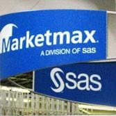 SAS and Marketmax displays at trade show