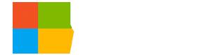 Microsoft Azure logo with stacked white type