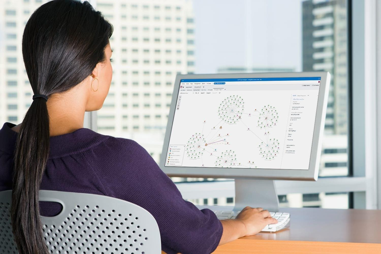 Young business woman using SAS® Visual Investigator