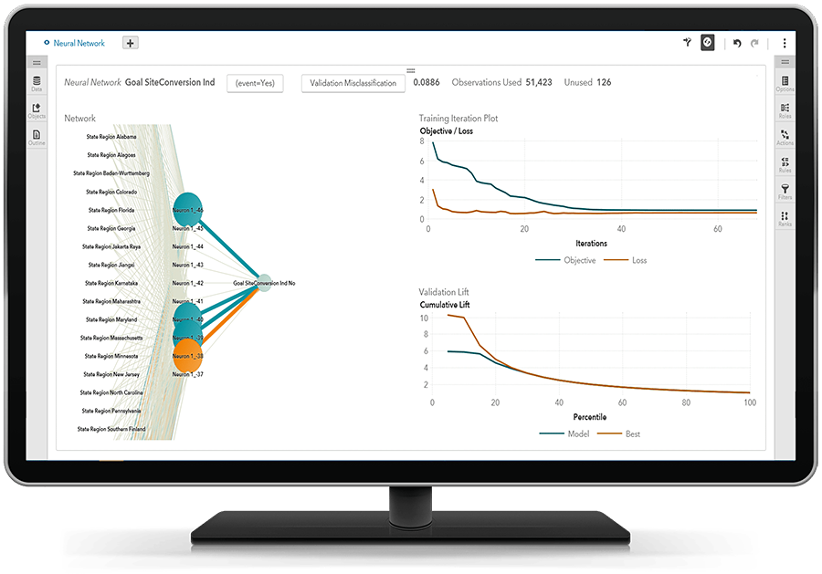 SAS® Visual Data Mining and Machine Learning on desktop - neural network