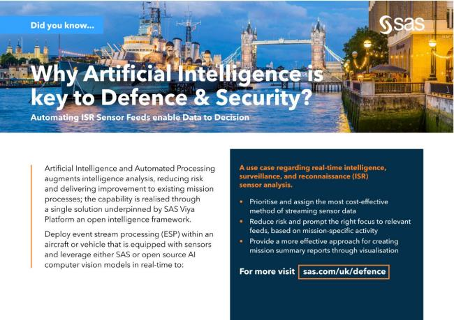 Why Artificial Intelligence is key to Defence & Security?