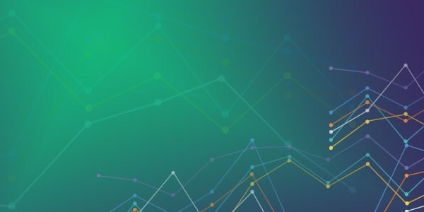 Line graph on green and violet shade gradient