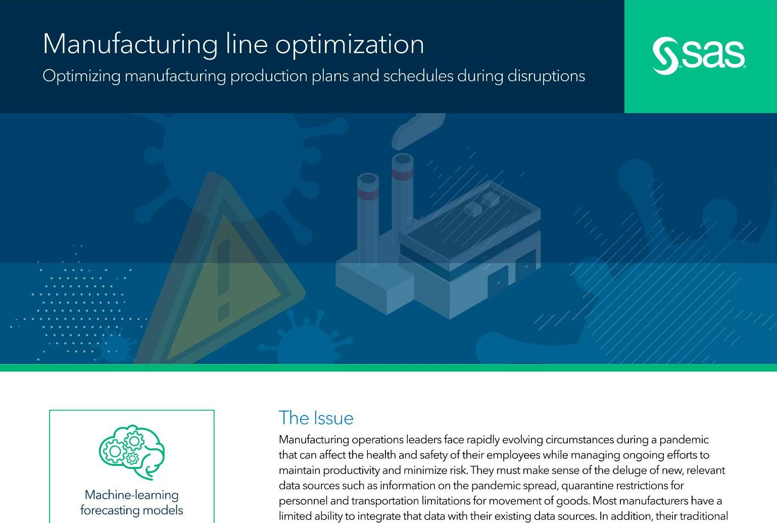 Manufacturing line optimization
