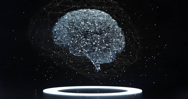 Brain illustration concept on dark background