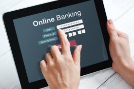 Online banking website ipad