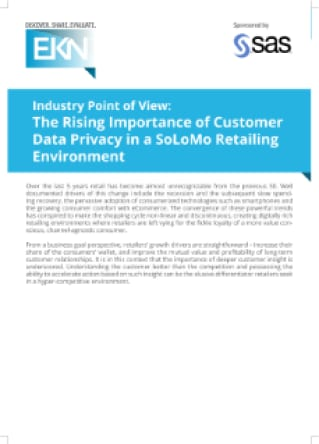 The Rising Importance of Customer Data Privacy in a SoLoMo Retailing Environment