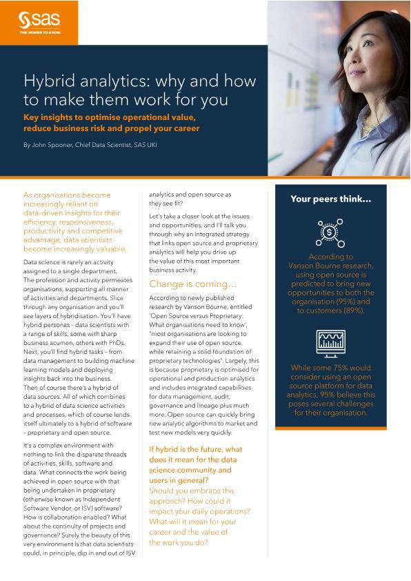 Viya POV - Hybrid Analytics why and how to make them work for you