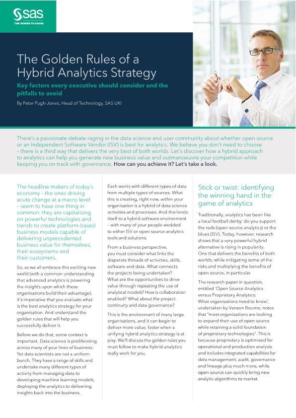 Viya pov golden rules of hybrid analytics strategy