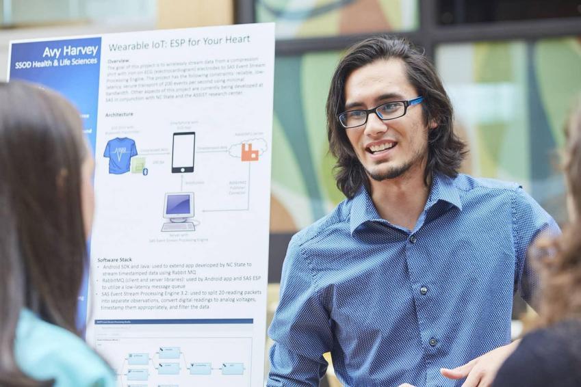 SAS intern presenting work