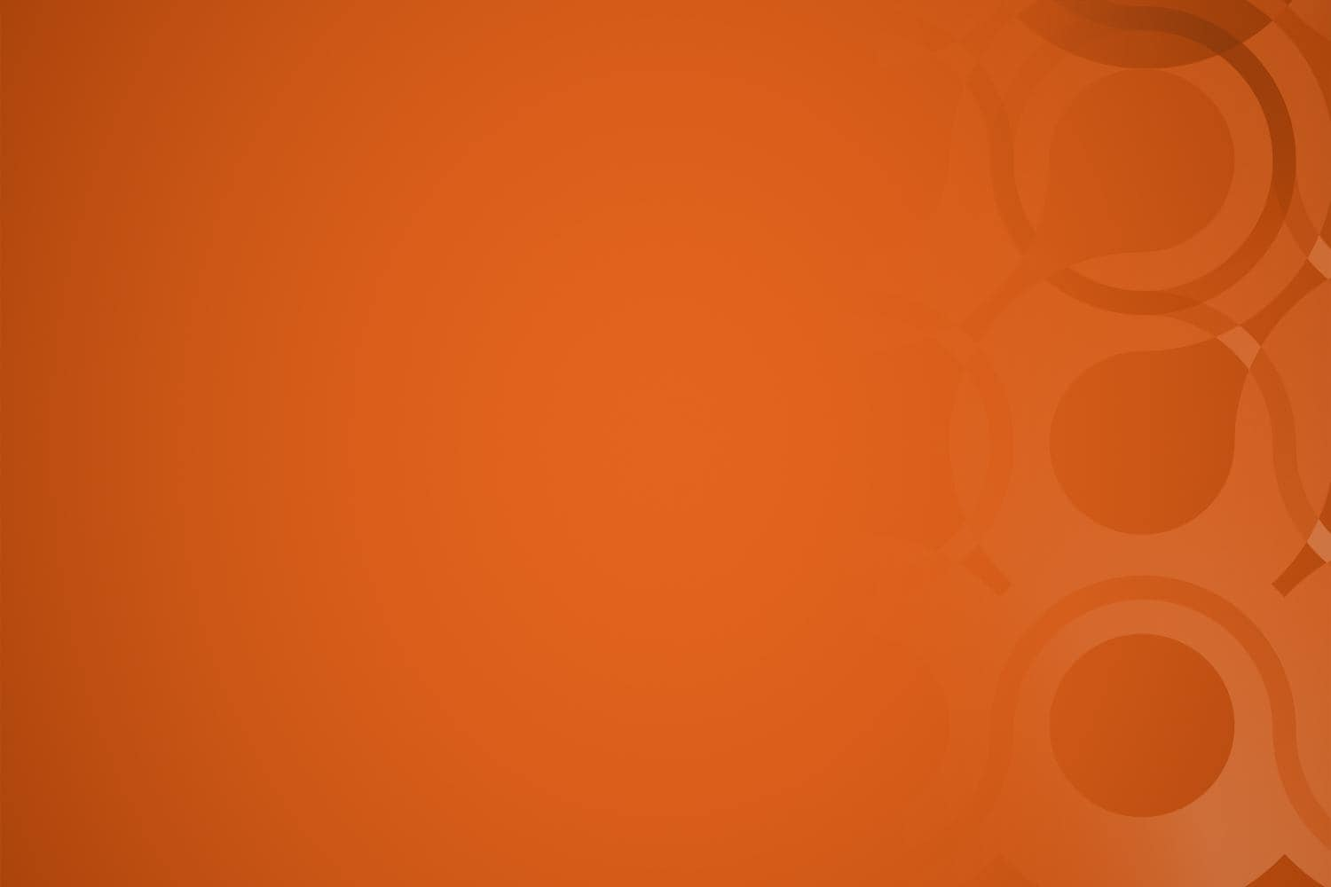Abstract loop art on orange background