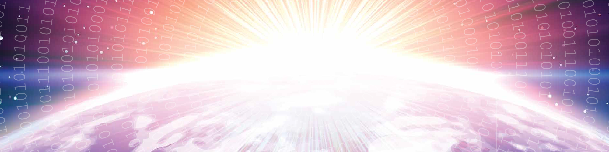 Planet in space in sunlight