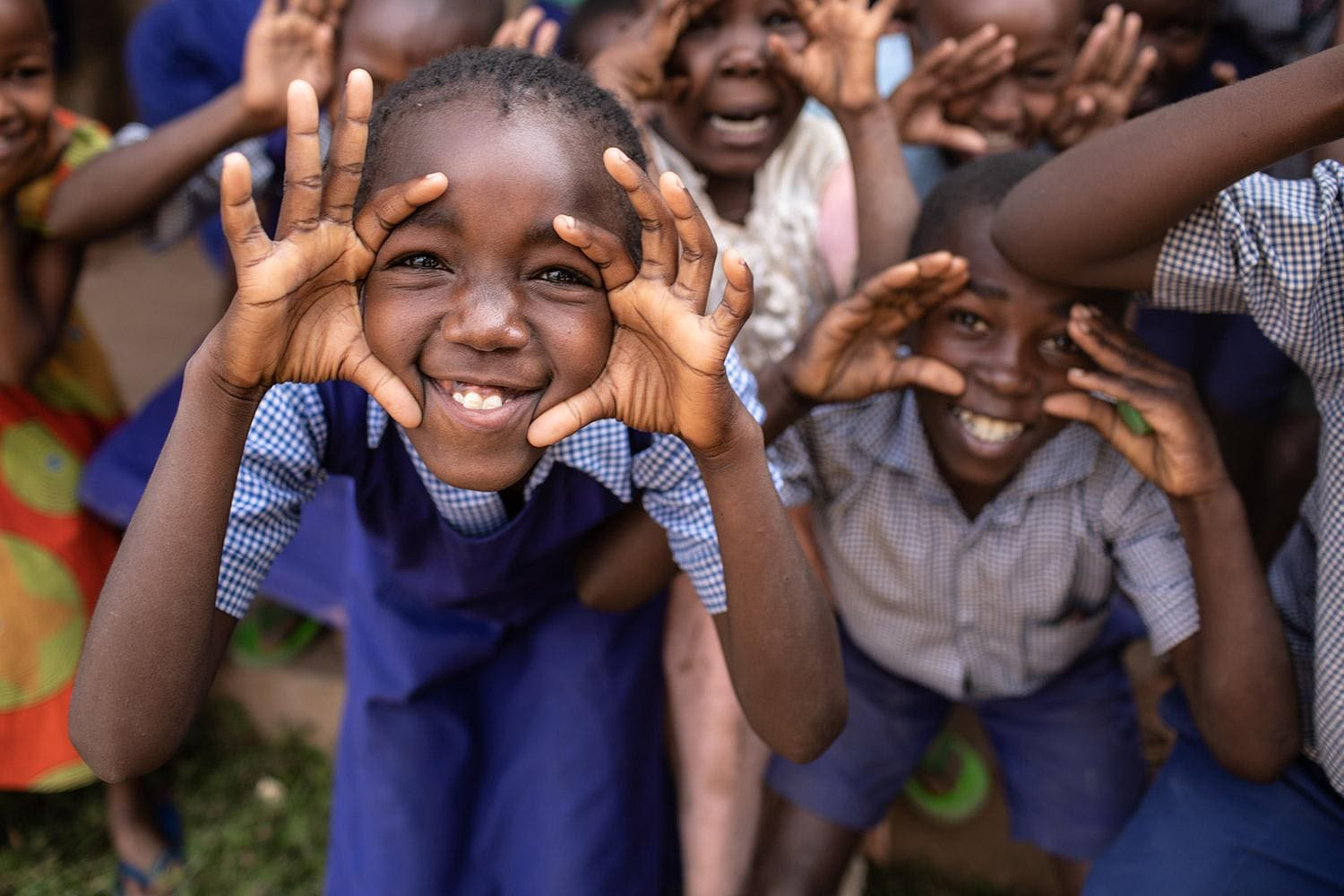 Kids Smiling in Kenya
