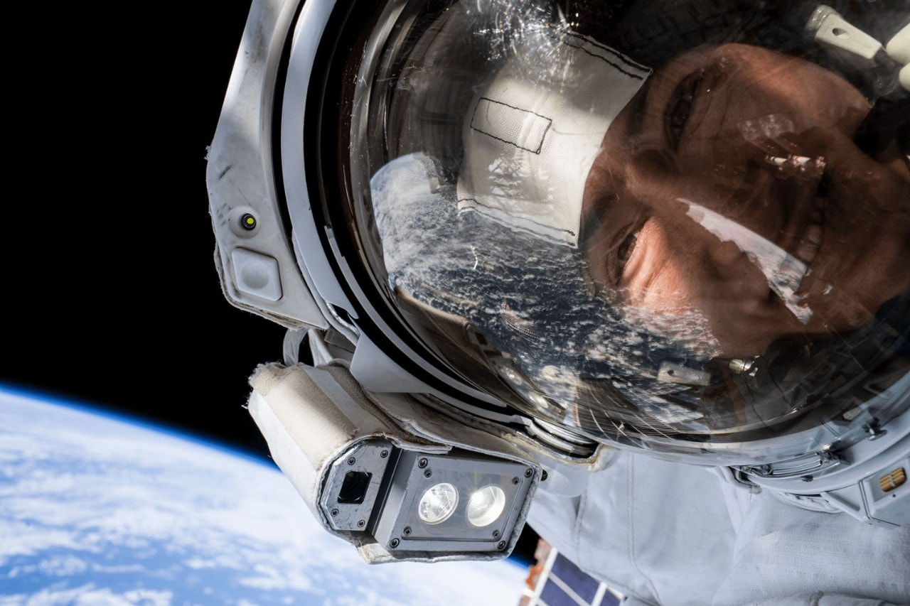 Christina Koch in space